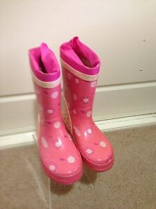 Girls Pink rubber boots size 11. Clarence Park Unley Area Preview
