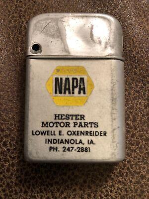 Vintage Advertising Lighter - NAPA - Hester Motor Parts - INDIANOLA IOWA