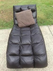 Chaise soft brown single reclined ounge. Shailer Park Logan Area Preview
