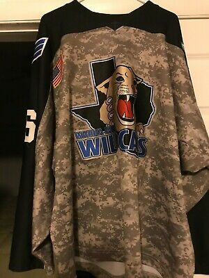 2009-10 NAHL WICHITA FALLS WILDCATS AARON QUICK GAME USED HOCKEY JERSEY  for sale  Linden