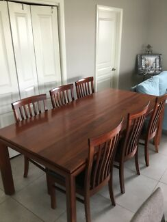 Solid Jarah wood Dinning table with 6 chairs , tv unit coffee table