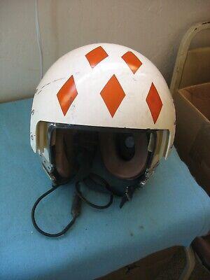 Used 60's/70's US Navy APH-6 Dual Visor Rams Head Flight Helmet no O2 mask.