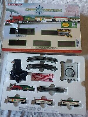 Bachmann Spirit of Christmas Electric Train Set Open Box Broken Pieces Read