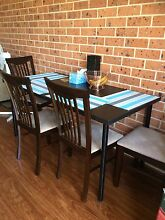Dinning table + 4 chairs Glenfield Campbelltown Area Preview
