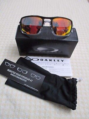 (New!) Oakley Triggerman Sunglasses Black Ink Ruby Iridium OO9266 - retails@$179