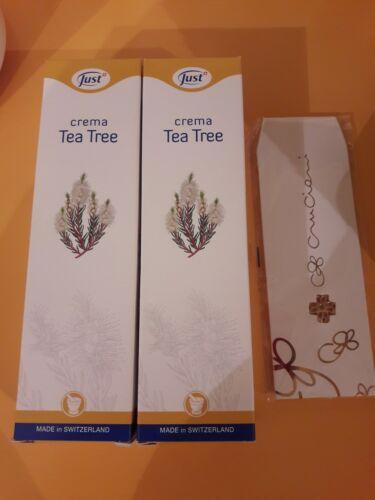 2 creme tea tree just crema cicatrizzante + collanina Cruciani omaggio ciondolo