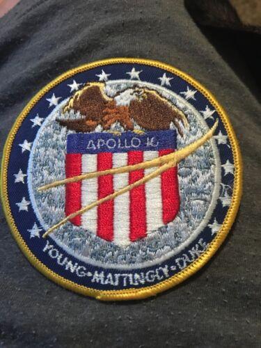 NASA ORIGINAL APOLLO 16 YOUNG-MATTINGLY-DUKE  CREW PATCH