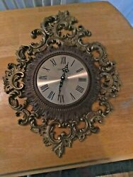 Large Homco Wall Clock.  Used. New Movement.