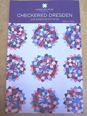 Checkered Dresden Quilt Pattern For 2 1 2  Strips New By Missouri Star Quilt Co