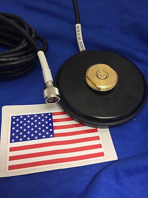 MAGNET BASE NMO MOUNT MINI UHF MAGNETIC  UHF VHF ANTENNA BASE NMO MADE IN USA (Nmo Base)