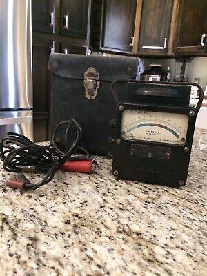 Vintage Weston Electrical Corp Voltmeter 600v Model 433 Wcase Leads Test Good