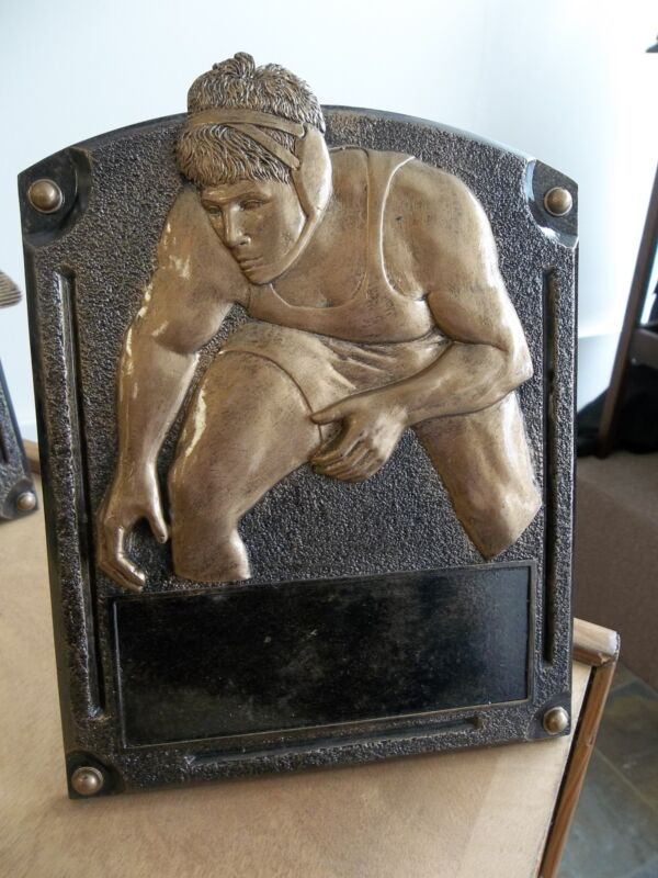 """perfect award for any Wrestler, cast bronze quality, approx. 6x7.5"""" H"""