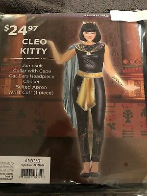Halloween Costume Girl's  Cleo Kitty Juniors Small 5-7,  Medium 9-11 or Large](9 11 Halloween Costume)