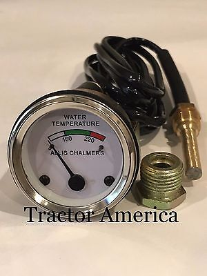 Temperature Gauge For Allis Chalmers D10 D12 D14 D15 D17 Gas Diesels Wd45 Diesel