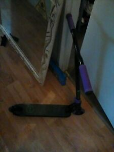 Longway Prime Matte Black and Purple Scooter