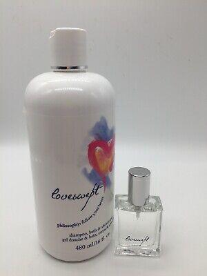 Gel 16 Oz Spray - Philosophy Loveswept Fragrance Spray Fragrance EDT .5 fl & Shower Gel 16 Oz