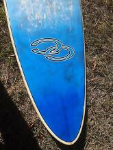 Mini Malibu Surfboard, 7ft. 6in., fibreglass, knitted cover. Armidale Armidale City Preview
