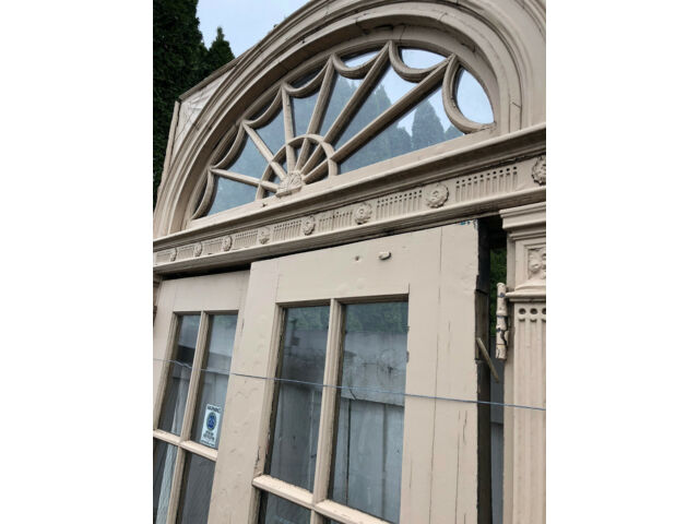TWO DOOR ENTRY with TRANSOM and JAMB circa 1924