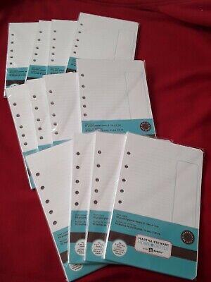 Martha Stewart Office Planner Filler Paper 5x8mini Binder 3or7 Hole 600 Sheets