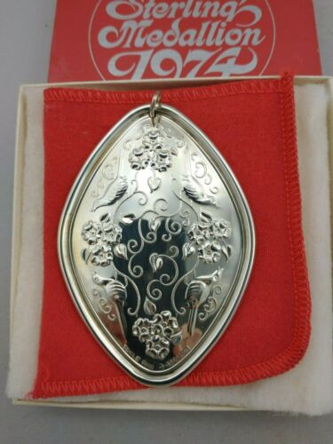 Towle 1974 Twelve Days Sterling Silver Christmas Ornament Mint w/Box Brochure