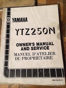 1984 Yamaha YTZ250N Owners Manual And Service