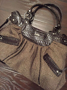 Brown with silver accent purse