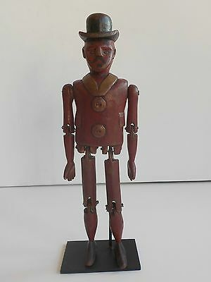 1800s EXTREMELY RARE! EARLY AMERICANA ANTIQUE DANCING JIGGER FOLK ART SCULPTURE