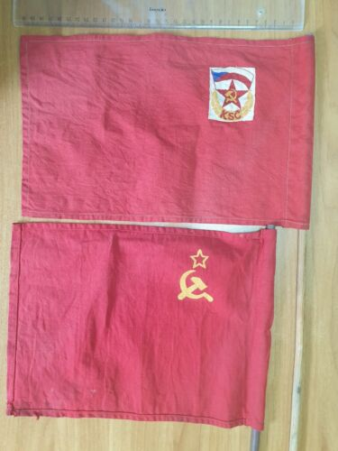 FLAG 2 flags communism Czechoslovakia CSSR  Soviet Union USSR U.S.S.R.