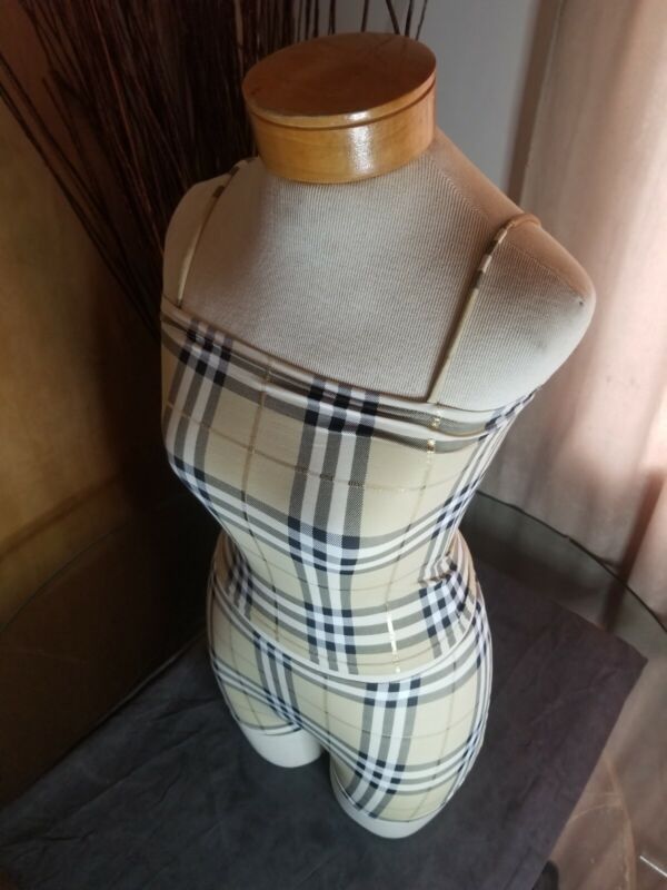 Burberry Plaid Tank Top and Shorts Set (Top Size Small - Shorts Size Medium)