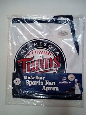 - MN Twins MLB Apron McArthur Towel Sports Fan White Navy Minnesota FREE SHIPPING