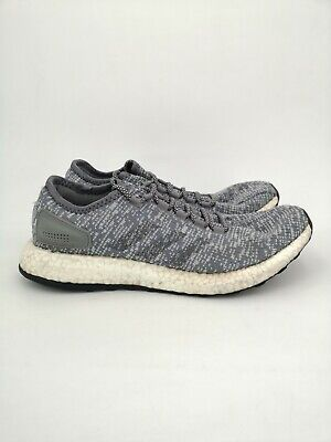 adidas Mens Pure Boost Running Shoes UK Size 9 Grey Trainers