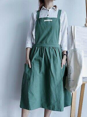 Women Ruffle Cotton Cute Apron with 2 Pockets