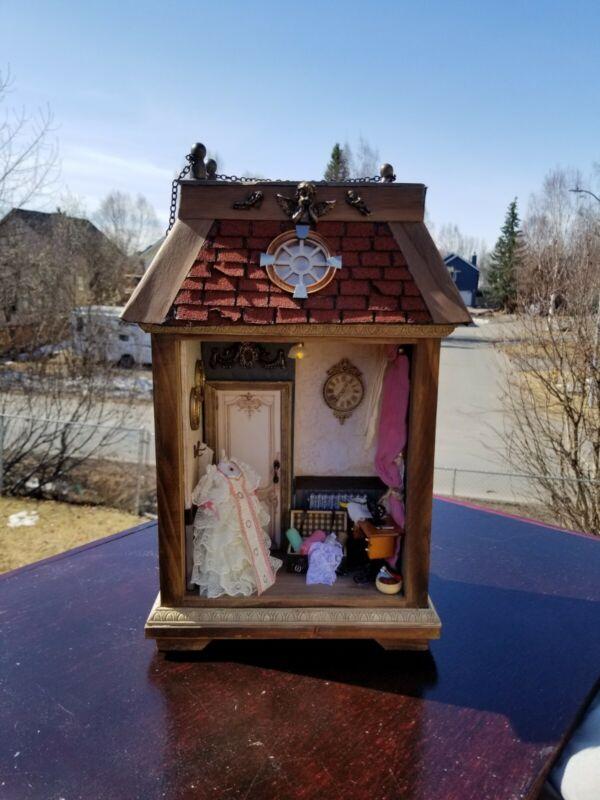 New Beautiful Handmade Miniature Dollhouse Room Box 1:12 scale