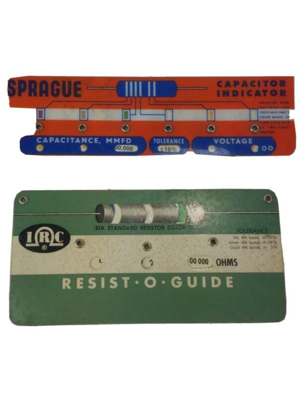 Sprague Capacitor Indicator & IRC Resist-O-Guide Calculators(1964)