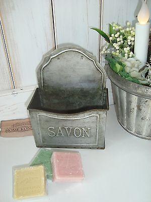 HOME KONTOR Seifenschale Seife Nostalgie Metall Antic Savon Bad Küche 16x12cm ()