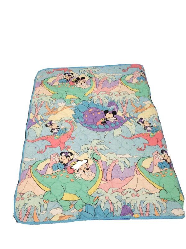 Vintage Disney Crib Small Blanket Mickey Minnie Mouse 90