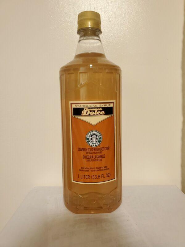 Starbucks Cinnamon dolce  Syrup 1 Liter 33.8 fl oz Bottle - NO PUMP MARCH 2022