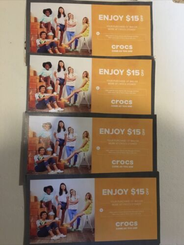 Four Crocs Stores Coupon Coupons - $1.99