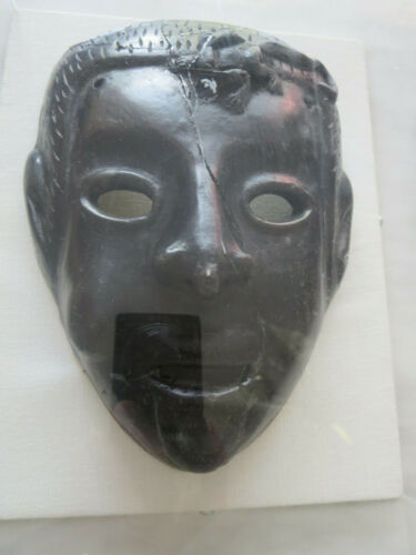 Antique Roman Greek Framed Clay Mask