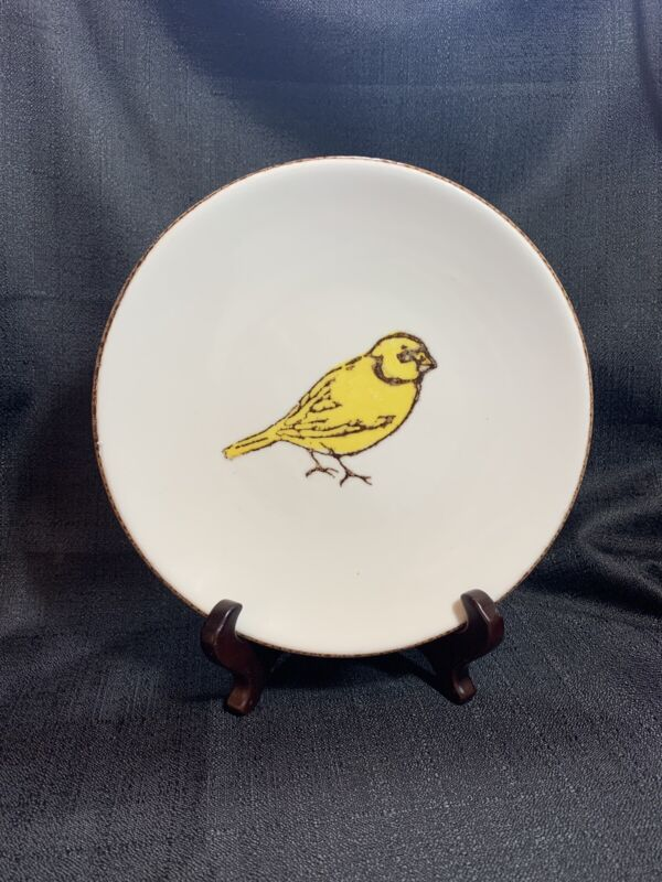 Portuguese Yellow Bird Plate