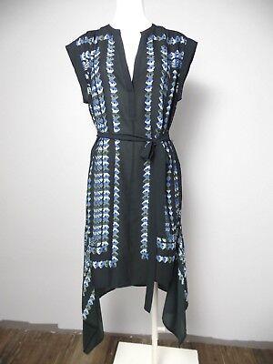 Black Uneven Hem Dress - BCBG MAXazria Womens Small Black Printed Rayanne Uneven Hem Sheath Dress R