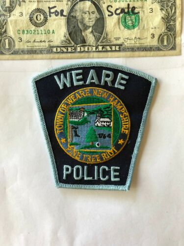 Very Rare Weare New Hampshire Police Patch un-sewn in great shape