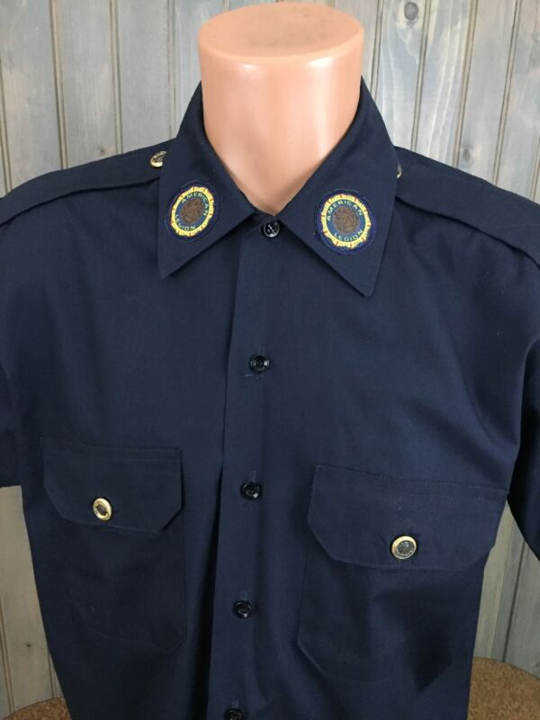 VINTAGE American Legion Official National S/S Button Shirt 16 1/2 (Large).