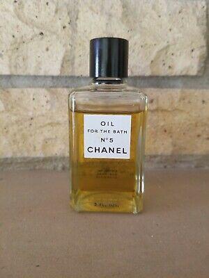 Vintage Chanel No 5 Oil for the Bath 3 oz Bottle 3/4 full New York