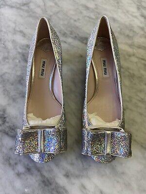 miu miu shoes Calzature Donna Paillettes, Glittered Silver, Size 36