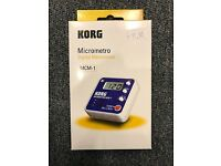 Korg MCM-1 Micrometer Metronome Blue Beat Keeper  Brand New!