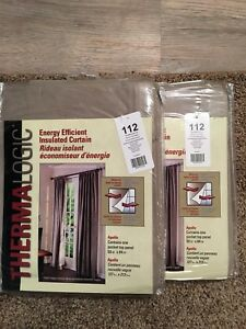Brand new - 2 x Energy Saving Thermalogic Curtains