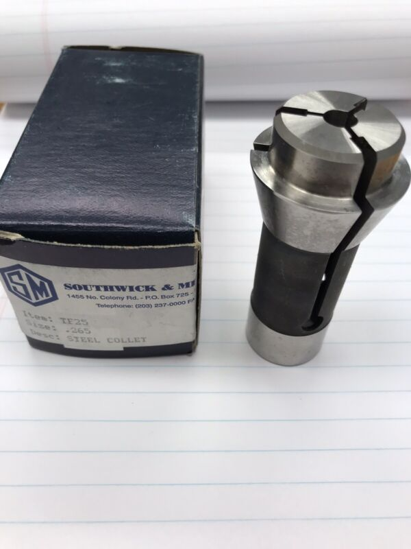 1 Pc. TF25 X .265 Round Steel Collet. Southwick & Meister