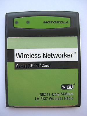 Motorola Symbol La-5137-1120-wwr 802.11 Abg Wireless Networker Wifi Radio Card