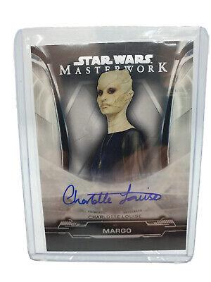 2019 Topps Star Wars Masterwork Charlotte Louise As Margo Autograph UK Seller